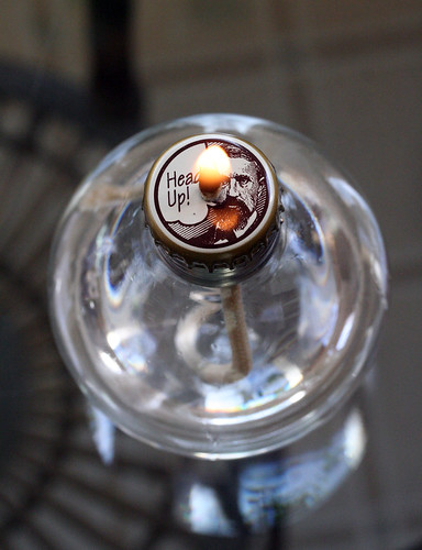 light bulb to oil lamp