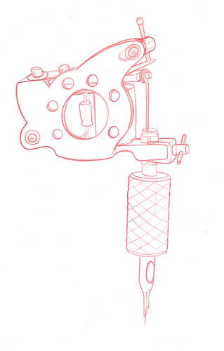 Tattoo Machine Drawing