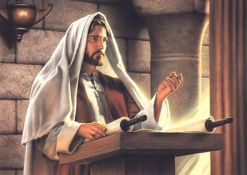 Jesus Pregando na Sinagoga no sábado