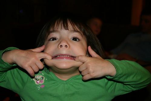 Ashlynn's silly face