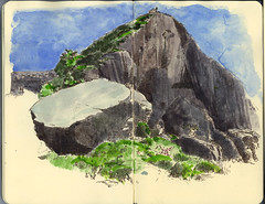 The Rhapsody route (Wil Freeborn) Tags: moleskine rock sketch journal dumbarton rhapsody