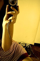 (all)stars & stripes - happy 4th of july to all americans :) (monyart) Tags: camera light woman selfportrait cute me girl beautiful amsterdam myself stars hand legs stripes io reflected girlpower 4thofjuly chucks sepiatones monyart allstarsstripes