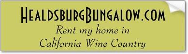Rent my bungalow in California Wine Country : Healdsburg, CA