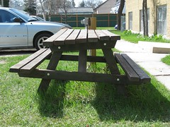 Repaired (Wonky) Picnic Table