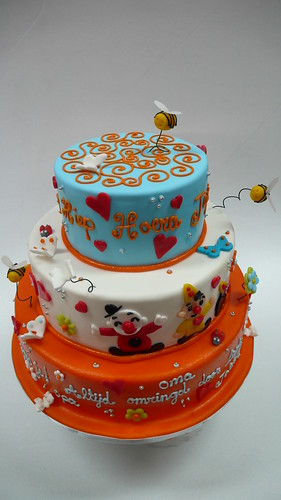 Prime Baby Bumba Clown Birthday Cake A Photo On Flickriver Funny Birthday Cards Online Inifodamsfinfo