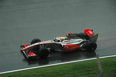 Lewis Hamilton in a McLaren