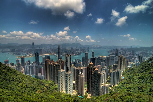 View of Hong Kong from Victoria Peak by skinnydiver.