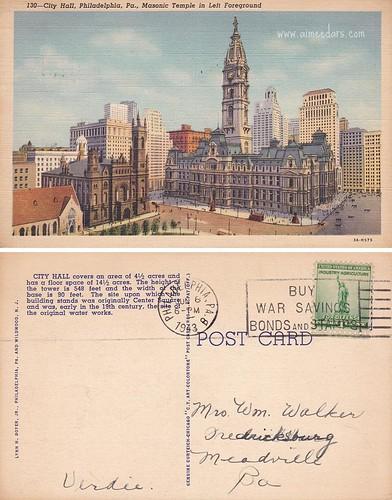 Philadelphia City Hall (19430608)