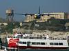 Escaping Alcatraz (Cal Bear 94) Tags: sanfrancisco california ferry airplane bay military navy prison alcatraz blueangels stunt c130 fleetweek acrobatic blueribbonwinner