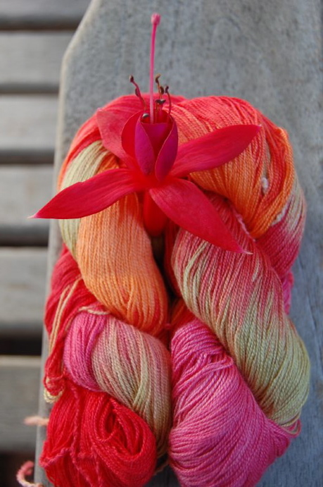 Yarn with Fuchsia