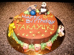 Zoo theme on Mousse Cake (artisan macaronier and chocolatier) Tags: marzipan figures fondant rosemaries