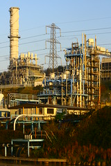 IMG_7791 (lepista) Tags: city morning chimney mist sunrise industrial stack pylon complex runcorn 20071020
