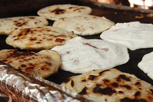 pupusas are a-griddling!
