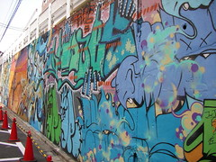 [渋谷]壁一面の落書き
