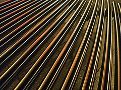 Rebar (robep) Tags: uk cambridge england night bench pattern steel thejunction cattlemarket borderingperception