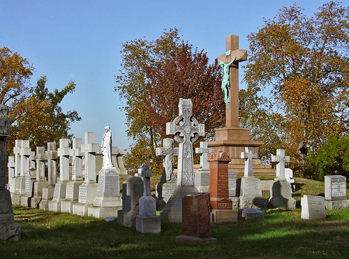Calvary Roman Catholic Cemetery, in Saint Louis, Missouri, USA - priests' graves.jpg