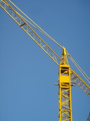 yellow crane (Nik-Tomasi) Tags: old city blue sky yellow town minimal trieste friuliveneziagiulia