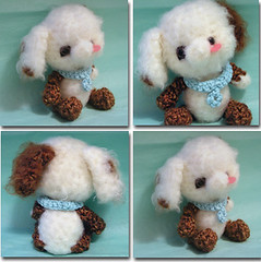 Pokey Puppy (frames) (whitepaw (christine)) Tags: dog animal puppy toy stuffed doll handmade crochet plush yarn softie stuffedanimal kawaii etsy amigurumi puppydog