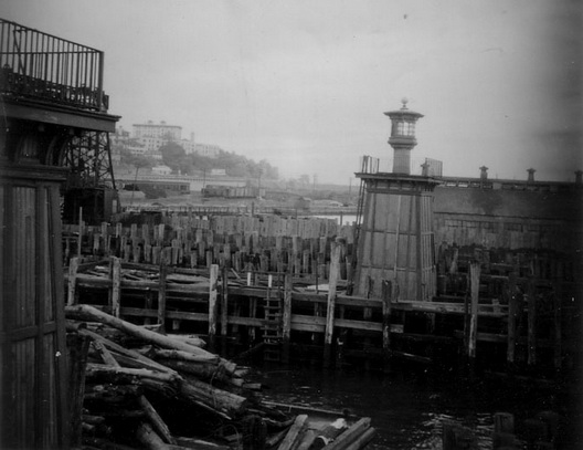 Brooklyn waterfront ca 1940 Crop