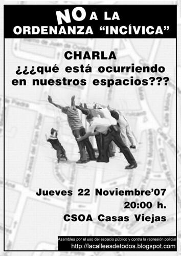 CARTEL CHARLA CALLE