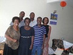 With Joyce's family