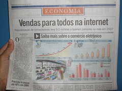 Capa caderno de Economia do o Globo - 24/12/2007