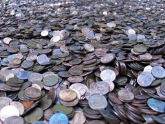 Coins (Joe Shlabotnik) Tags: nyc newyorkcity money coins manhattan rockefellercenter cents pennies 2007 faved abstractarty december2007 heylookatthis