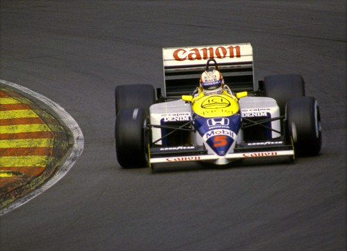 Nigel Mansell Williams FW11 Honda turbo f1 Brands Hatch 1986.