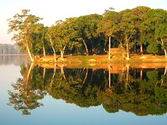 Angkor Wat - Siem Reap, Cambodia. (Globalviewfinder) Tags: trees reflection water cambodia seasia southeastasia khmer angkorwat siemreap backpacker tombraider khmerrouge indochinaglobal