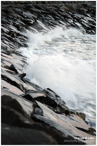 Splash on Rocks