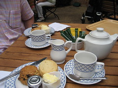 Cream Tea - The Cotswolds (AGA~mum) Tags: uk england gardens landscapes britain nt scones nationaltrust afternoontea oxfordshire warwickshire creamtea teaservice thecotswolds thenationaltrust teateatea ukcotedazur2007 uptonhousegardens