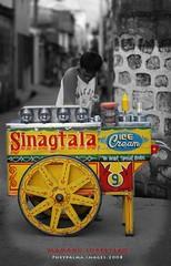 Mamang Sorbetero (Phey Palma) Tags: mono icecream manila selectivecolor d80 kodakero pheypalma pkchallenge