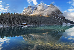 Mountain Fresh (Surreal McCoy (Alvin Brown)) Tags: lake canada mountains rockies bravo louise alberta banff anawesomeshot superaplus aplusphoto flickrplatinum favemegroup7 favemegroup10 superfaveme thefineartgallery3