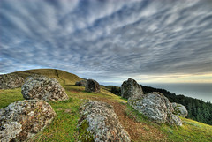 Bolinas Ridge (Aaron Siladi) Tags: california sky clouds rocks path marin hill bolinas ridge trail dxo hdr hilltop sigma1020mm photomatix