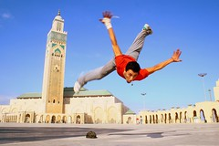 Mustafa doing another (joelfrijhoff) Tags: africa street trip vacation urban dance jump mosque morocco flip hiphop rap breakdance float mustafa hassanii canoneos30d joelfrijhoff canon1855mm3556 dinozors wwwjoelfrijhoffcom