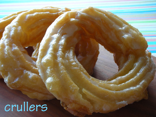 crullers with rum glaze