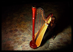 Oh to be serenaded (PatrickKErby) Tags: portrait promo classical serene harp uoft harpist carolinecole