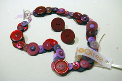 Button Necklace & Earrings