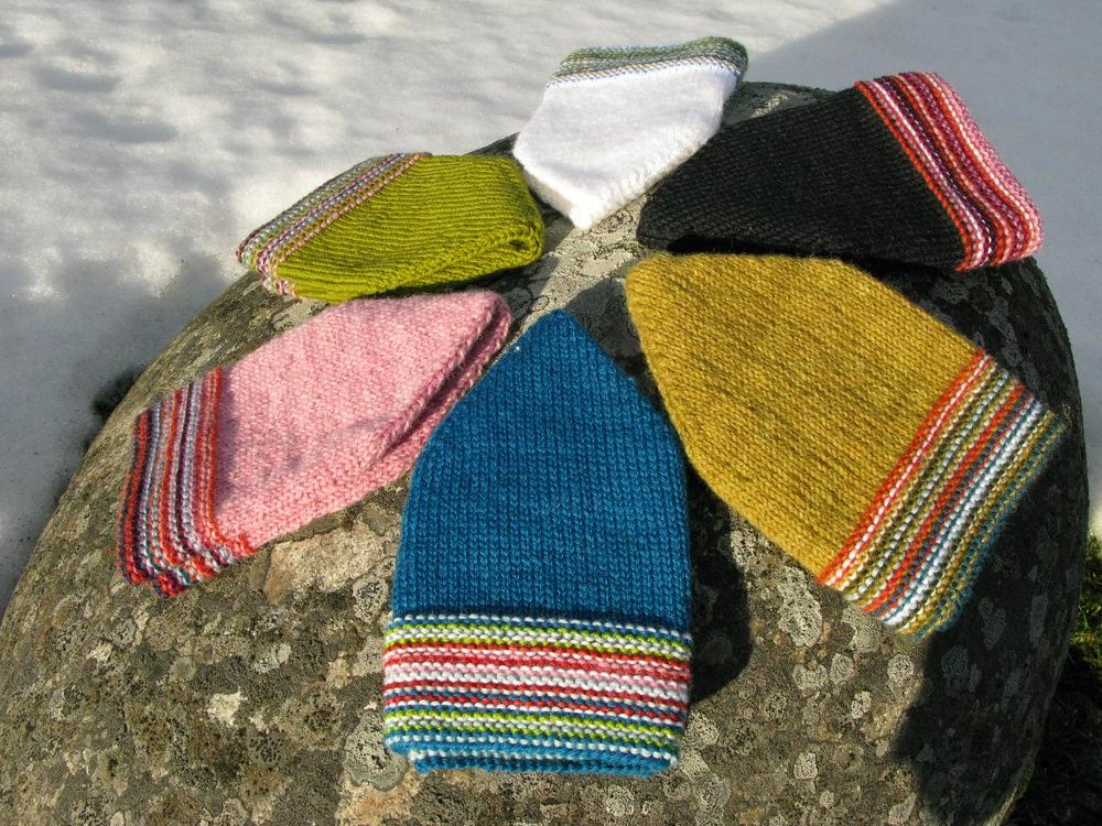 Garter Stripe Beanies