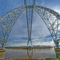 Newport Transporter Bridge (wentloog) Tags: bridge panorama industry southwales wales architecture canon square eos industrial pano wideangle riverusk newport 5d usk industriallandscape transporter wfc gwent transporterbridge industrialarchitecture aspherical ptgui googleimage 14mm canoneos5d extremeengineering tamron14mm newporttransporterbridge wentloog pantools welshflickrcymru stevegarrington tamron14mmf28 discoverchannelimage europeanmegastructure