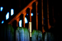 Fence Communication Tool (mightyquinninwky) Tags: wood fence geotagged backyard dof bokeh kentucky lexingtonkentucky shades textures woodenfence clothespin wooddeck fontaineroad chevychasearea fayettecountykentucky centralkentucky thebluegrassstate geo:lat=38028572 geo:lon=84488554 woodclothespin