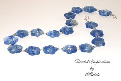 Blue Flower Necklace (michele_lundell) Tags: by michele beaded inspirations