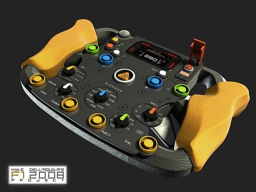 F1 2008 steering wheel