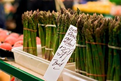 St. Lawrence Market Asparagus (Rock Steady Images) Tags: toronto ontario canada green canon eos 350d rebel xt asparagus bunch 200views stlawrencemarket 50views canon50mmf14 ef50mmf14usm 25views 7pointsystem bypaulchambers rocksteadyimages