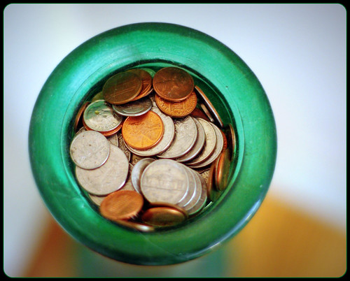 coin jar overflowing