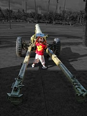Big Toy (/\ltus) Tags: canon hawaii waikiki ixy howitzer armymuseum 200805 910is hawaii2008 photographerchizuko