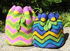 Felted Blooming Zig Zag Bag