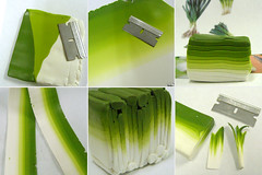 Making a Leek Cane (Shay Aaron) Tags: food house green scale cane miniature doll handmade fake vegetable polymerclay fimo veggie 112 leek turnip dollhouse millefiori caning      millfiori    shayaaron  angiescarr