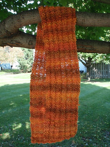 One Row Handspun Scarf