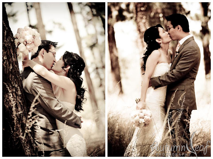 Clare & Nic's Wedding - Forest Romance (by Autumnleaf Photography)